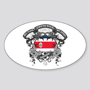 Costa Rica Soccer Sticker (Oval)