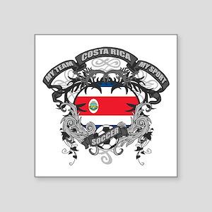 """Costa Rica Soccer Square Sticker 3"""" x 3"""""""
