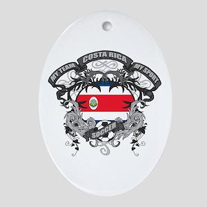 Costa Rica Soccer Ornament (Oval)