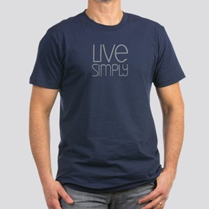 Live Simply Men's Fitted T-Shirt (dark)