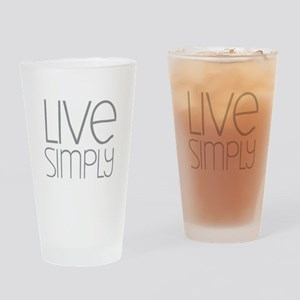 Live Simply Drinking Glass