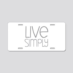 Live Simply Aluminum License Plate