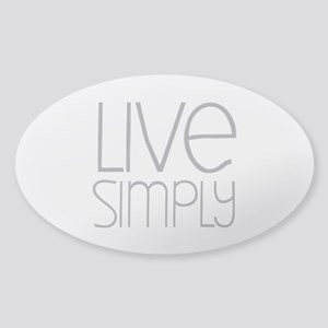 Live Simply Sticker (Oval)