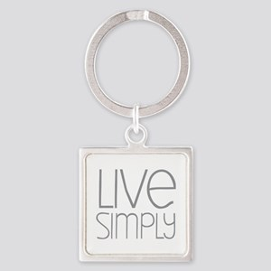 Live Simply Square Keychain
