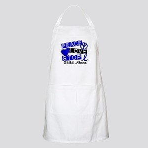 Peace Love Stop Child Abuse 1 Apron