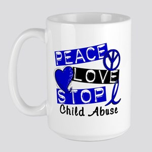 Peace Love Stop Child Abuse 1 Large Mug