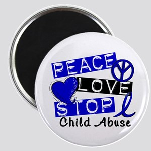 Peace Love Stop Child Abuse 1 Magnet