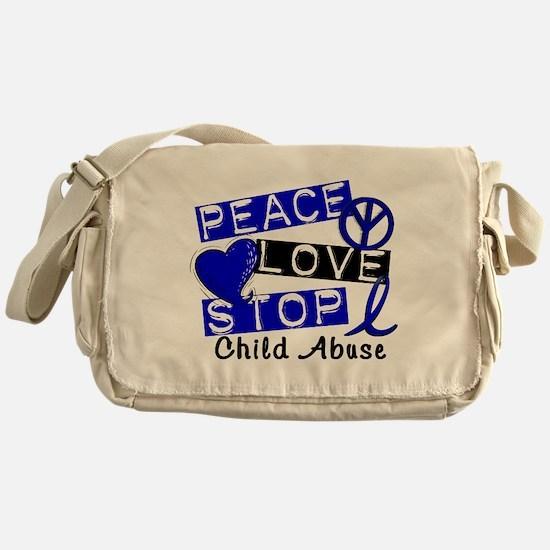 Peace Love Stop Child Abuse 1 Messenger Bag
