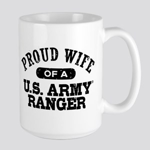 Army Ranger Wife Large Mug