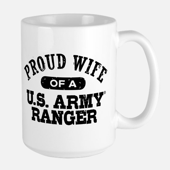 Army Ranger Wife Large Mug
