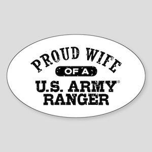 Army Ranger Wife Sticker (Oval)