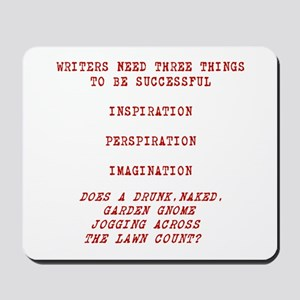 WRITER INSPIRATION-RED Mousepad