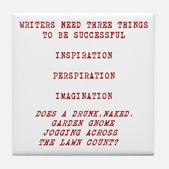 Writer Inspiration-Red Tile Coaster