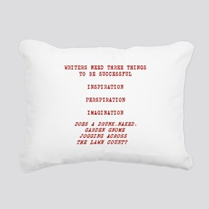 WRITER INSPIRATION-RED Rectangular Canvas Pillow