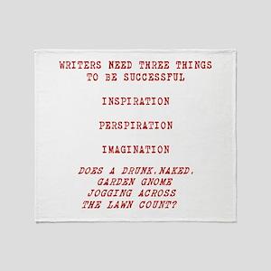WRITER INSPIRATION-RED Throw Blanket