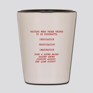 WRITER INSPIRATION-RED Shot Glass