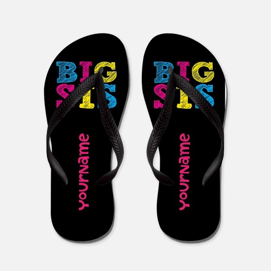 Bis Sister Personalized Flip Flops