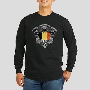 Belgium Soccer Long Sleeve Dark T-Shirt