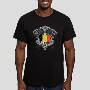 Belgium Soccer Men's Fitted T-Shirt (dark)