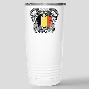 Belgium Soccer Stainless Steel Travel Mug