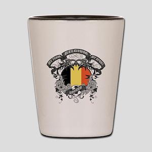 Belgium Soccer Shot Glass