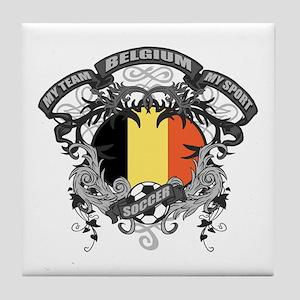 Belgium Soccer Tile Coaster
