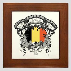 Belgium Soccer Framed Tile