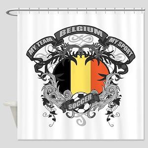 Belgium Soccer Shower Curtain