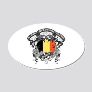 Belgium Soccer 20x12 Oval Wall Decal
