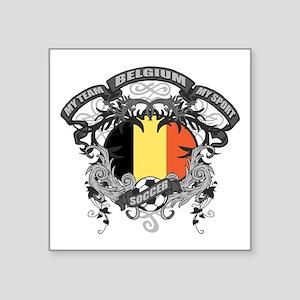 """Belgium Soccer Square Sticker 3"""" x 3"""""""