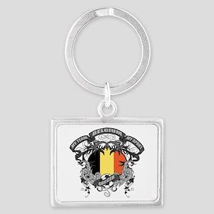 Belgium Soccer Landscape Keychain