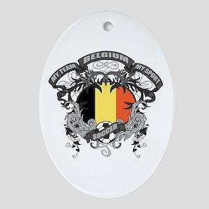 Belgium Soccer Ornament (Oval)