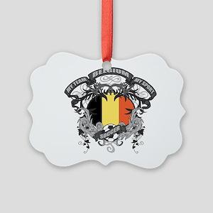 Belgium Soccer Picture Ornament