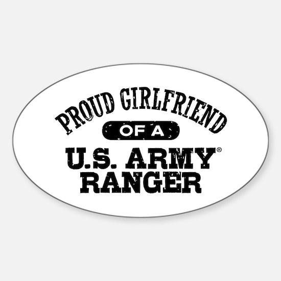 Army Ranger Girlfriend Sticker (Oval)