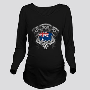 Australia Soccer Long Sleeve Maternity T-Shirt