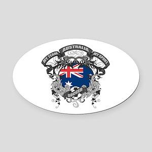 Australia Soccer Oval Car Magnet