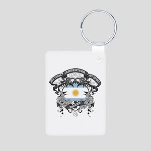Argentina Soccer Aluminum Photo Keychain