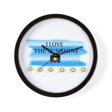 I LOVE THE SUNSHINE Wall Clock