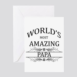 World's Most Amazing Papa Greeting Card