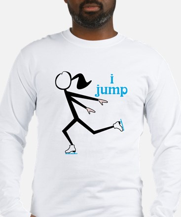 i spin, i jump Ice Skating Long Sleeve T-Shirt