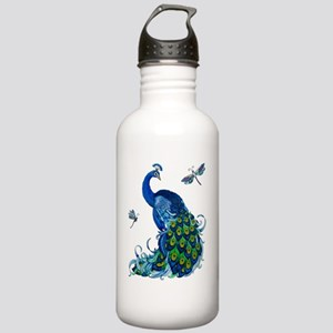Blue Peacock and Drago Stainless Water Bottle 1.0L