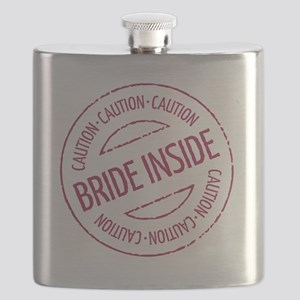 Caution - Bride Inside Stamp (Hen Party) Flask