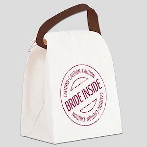 Caution - Bride Inside Stamp (Hen Canvas Lunch Bag