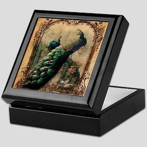 vintage elegant peacock french floral Keepsake Box