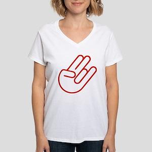 SHOCKERHAND ROT Women's V-Neck T-Shirt