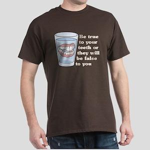 False Teeth Dentures Dark T-Shirt