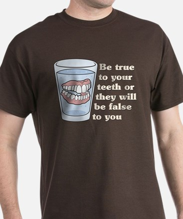 False Teeth Dentures T-Shirt