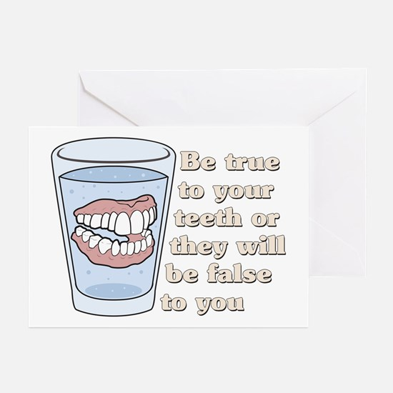 False Teeth Dentures Greeting Cards (Pk of 10)