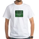 Green and White T-Shirt
