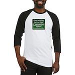 Green and White Baseball Jersey
